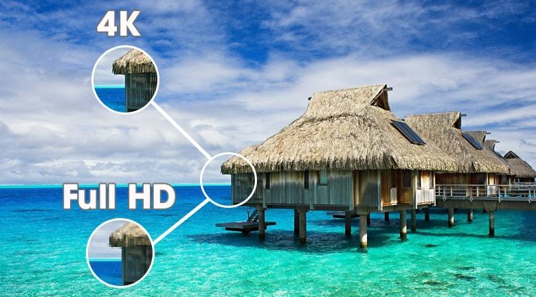 65GX có độ phân giải 4K cho hình ảnh sắc nét hơn
