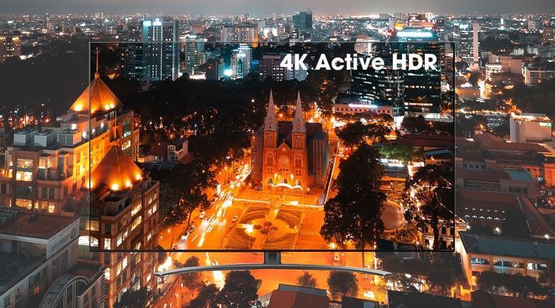 công nghệ 4K active HDR cho độ tương phản cao