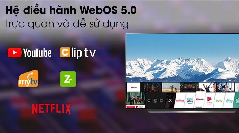 hệ điều hành WebOS 5.0 trực quan và dễ sử dụng