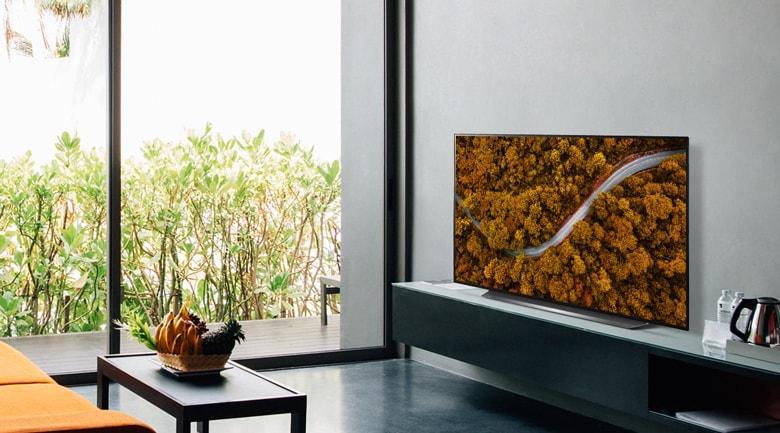 55CX thiết kế tối giản, viền màn hình siêu mỏng
