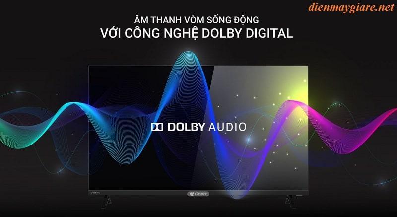 32HX6200 có âm thanh vòm sống động với công nghệ Dolby Digital