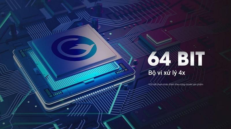 tivi casper 55UG6300 có bộ vi xử lý 4X cho tivi có tốc độ load nhanh hơn