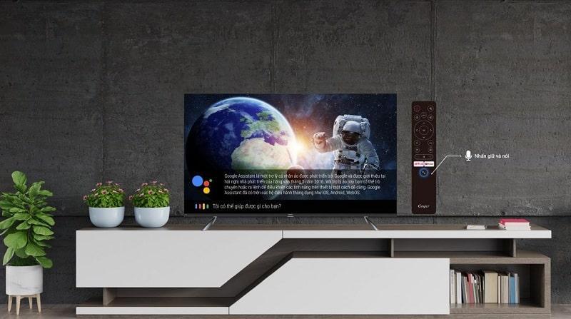 Remote thông minh cùng với trợ lý ảo google assistant cho tìm kiếm bằng giọng nói dễ dàng hơn