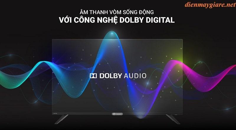 âm thanh vòm sống động với công nghệ Dolby Digital