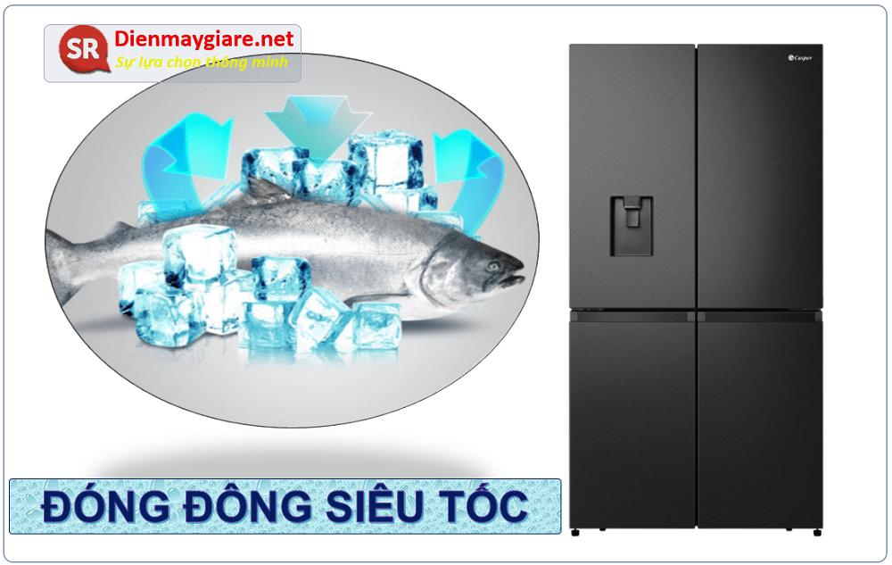 Tủ lạnh Casper RM-680VBW có khả năng làm đông nhanh siêu tốc