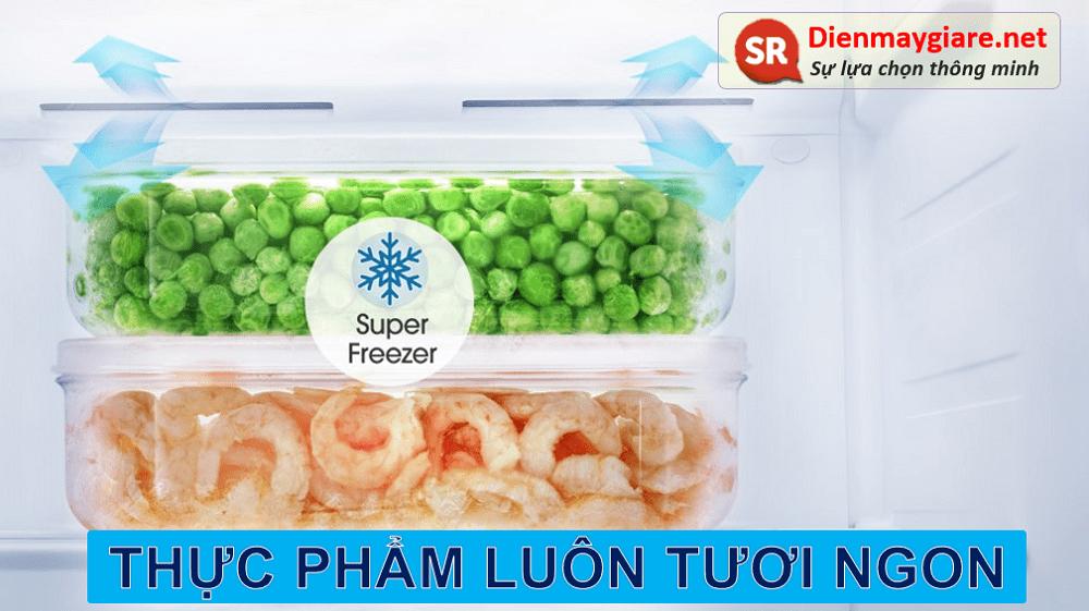 Tủ lạnh Casper RS-575VBW giúp giữ trọn hương vị tươi ngon của thực phẩm