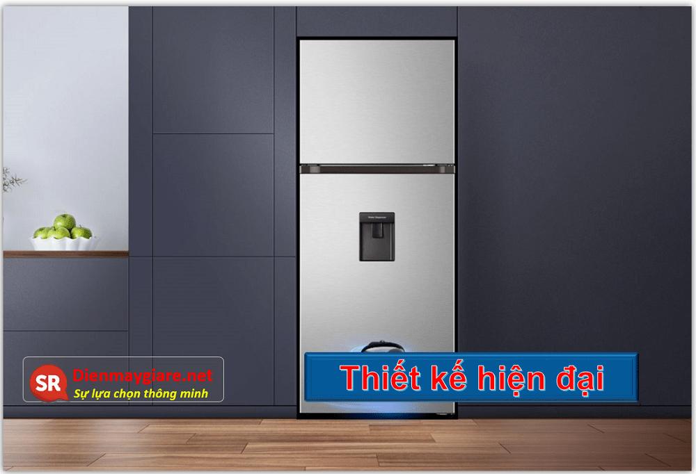 Tủ lạnh Casper RT-421VGW 404L có thiết kế màu trắng, hình thức hiện đại