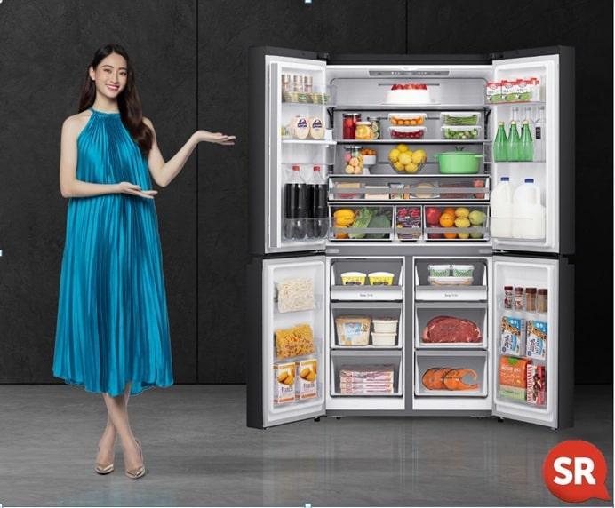 tủ lạnh casper RM-522VBW có thiết kế sang trọng