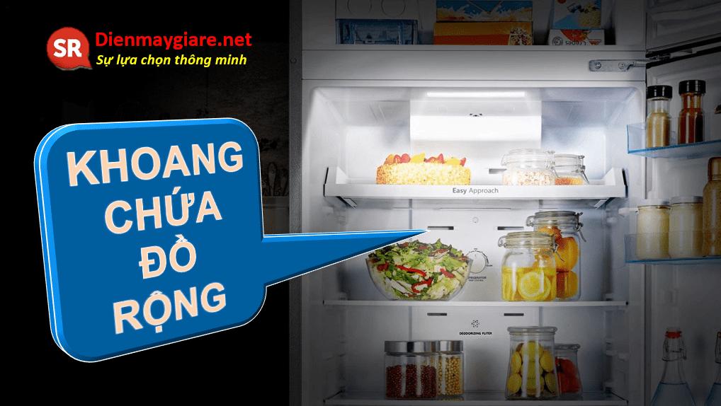 Tủ lạnh Casper RT-230PB có không gian chứa đồ rộng lớn