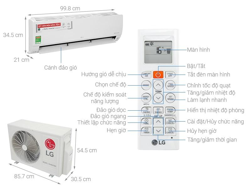 Điều hoà LG Inverter 18000BTU V18API1