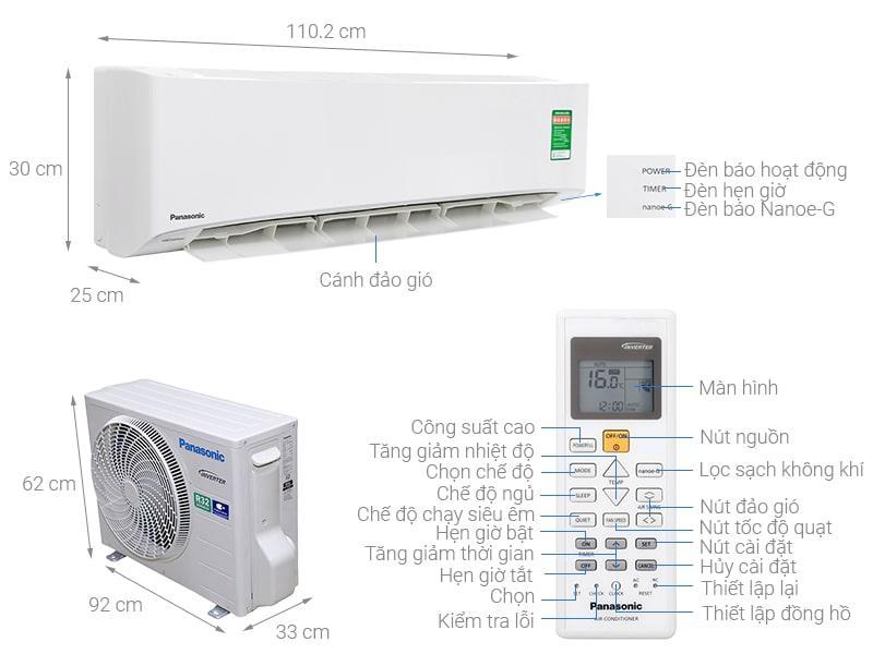 Điều hoà Panasonic CU/CS-PU18UKH-8 Inverter 18000btu