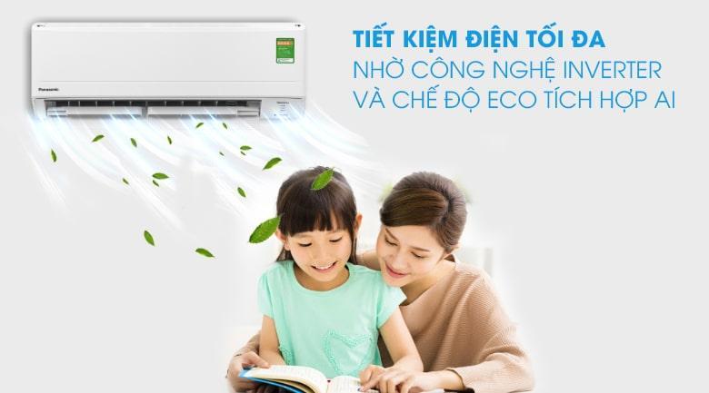 Điều hoà CU/CS-PU18WKH-8M được tích hợp AI cùng với chế độ Eco tiết kiệm điện đến 40%