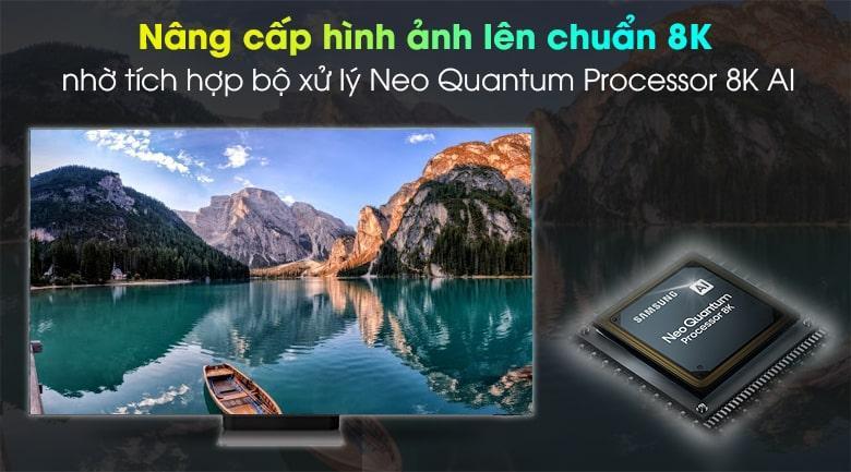 Tivi Neo QA75QN900A Với Trí Tuệ Nhân Tạo AI vàbộ xử lý Quantum 8K nâng cấp hình ảnh lên gần với chuẩn 8K nhất