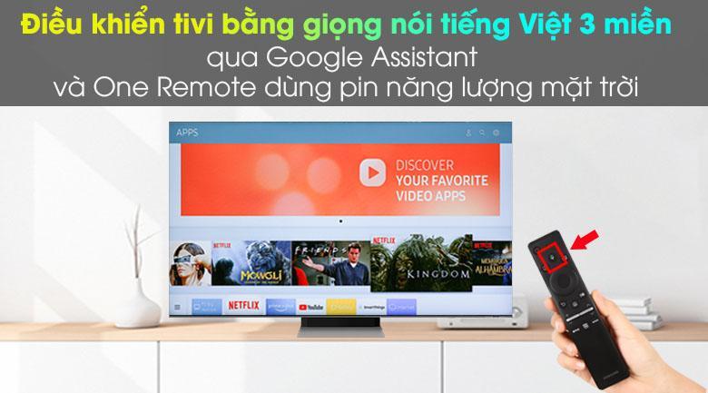 Thông qua Google Assistant và One Remote bạn có thể tìm kiếm mọi thứ bằng tiếng Việt dễ dàng