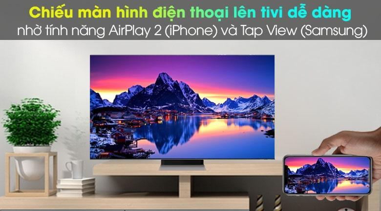 Khả năng trình chiếu màn hình điện thoại iPhone lên tivi dễ dàng nhờ các tính năng AirPlay 2