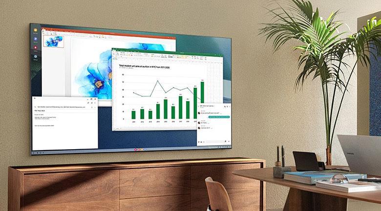 Tivi Samsung QA 50Q80A mang đến thiết kế không viền 4 cạnh Q Stylish mới và hiện đại