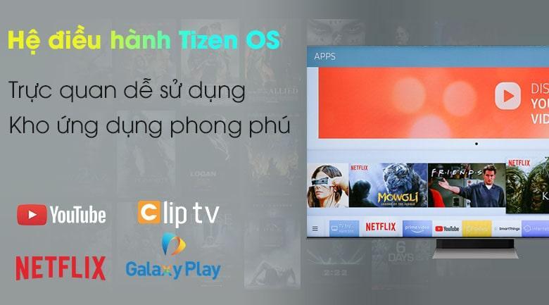 Tivi Samsung QA 50Q80A trang bịHệ điều hànhTizen OSgiao diện đơn giản dễ dùng