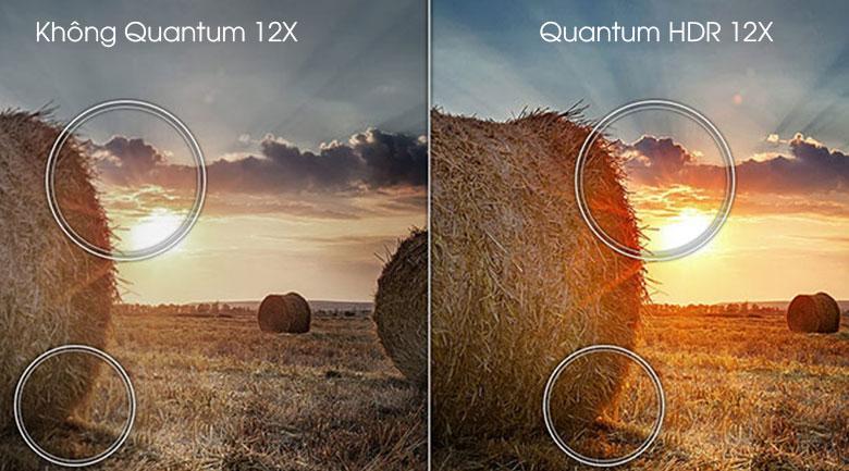 Tivi Samsung QA50Q80A nhờ trang bị công nghệ Quantum HDR 12X nên tối ưu độ tương phản, độ nét hình ảnh cao
