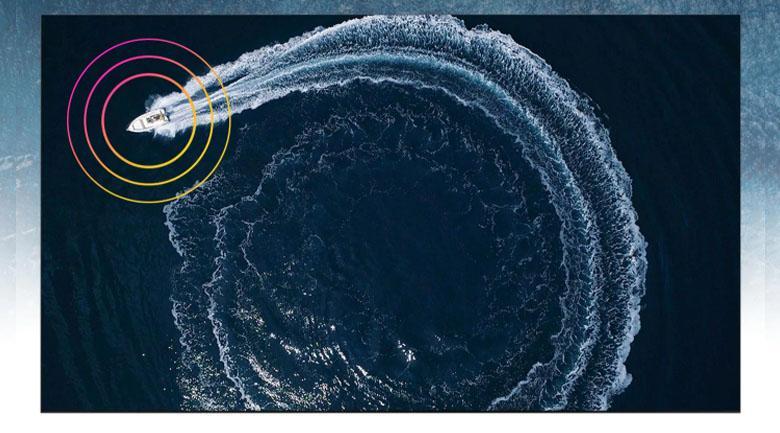 Tivi QA 50QN90A mang đến âm thanh vòm theo chuyển động của từng khung hình