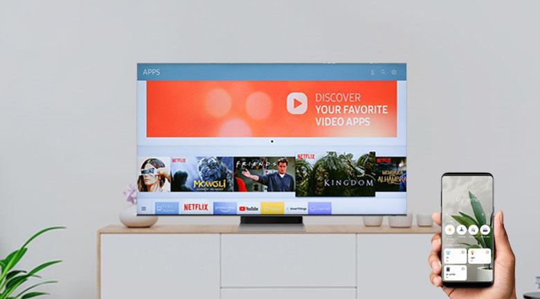 Tivi Samsung Neo QLED QA50QN90A có thể điều khiển bằng điện thoại
