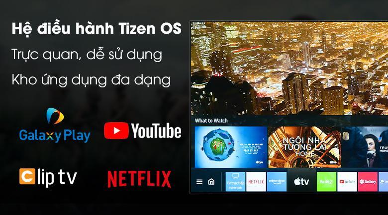 Tivi Neo QA 50QN90A với hệ điều hành Tizen OS thân thiện và nhiều ứng dụng giải trí thú vị