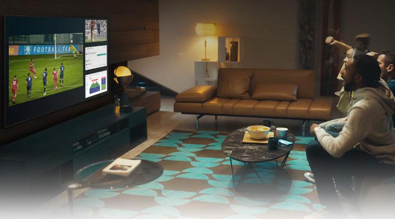Tivi Neo QA50QN90A có tính năng Multi View tiện lợi xem 2 nội dung trên 1 màn hình