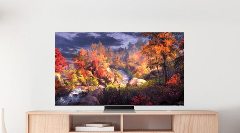 Tivi Samsung QA 50QN90A mang đến màn hình tràn viền 4 cạnh ấn tượng, sang trọng và tinh tế