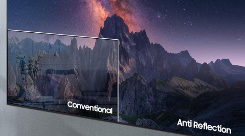 Công nghệ Anti-Reflection trên Tivi Samsung Neo QLED QA50QN90A chống chói hiệu quả