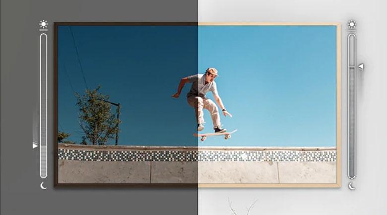 Tính năng Adaptive Picture tự điều chỉnh độ sáng phù hợp với ánh sáng môi trường xung quanh