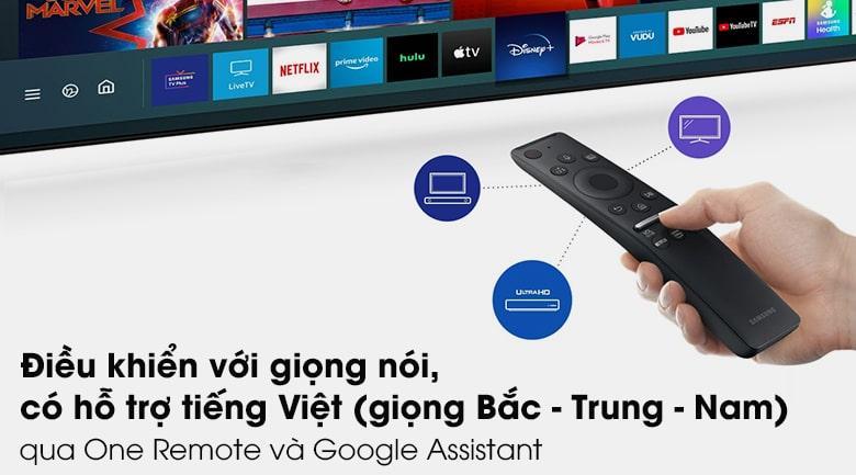 Tivi Samsung QA55Q80A trang bị One Remote và Google Assistant giúp sử dụng TV dễ dàng, thông minh hơn