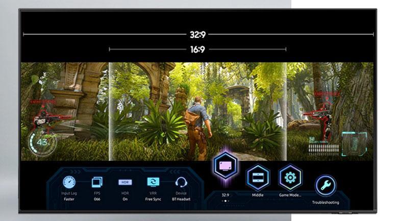 Super Ultra Wide Game View và Game Bar.