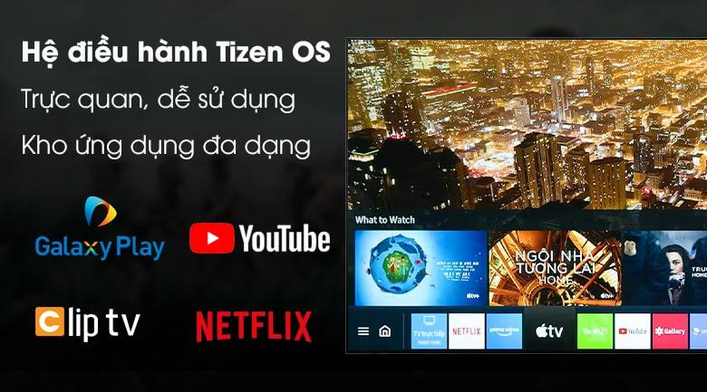 Tivi Samsung QA 65Q70A vẫn sử dụng hệ điều hành làm nên thương hiệu Tizen OS