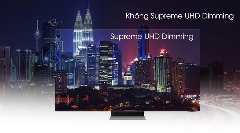 Tivi QA 65Q70A mang tới công nghệ Supreme UHD Dimming cho màu sắc tự nhiên nhất kể cả cảnh tối