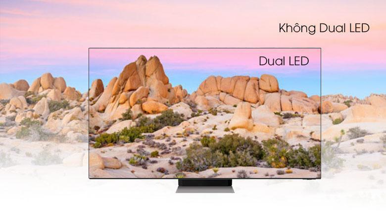 Tivi QA 65Q70A có công nghệ Dual LED cho độ tương phản và sự chính xác màu sắc cao nhất