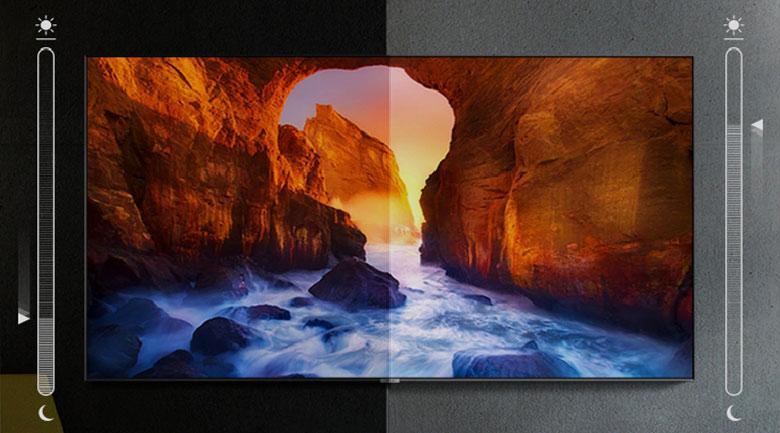 Tivi Samsung QA 65Q70A với trang bịAdaptive Picture sẽ thích hợp với mọi môi trường ánh sáng khác nhau
