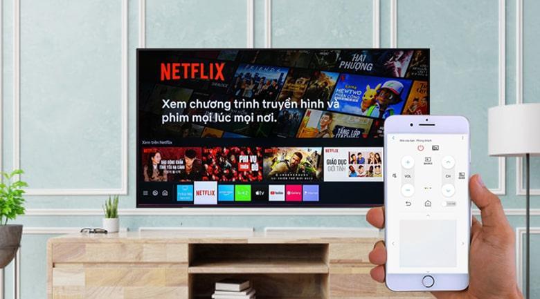 Ứng dụng SmartThings Tivi Samsung UA43AU9000 cho phép bạn điều khiển tivi bằng điện thoại