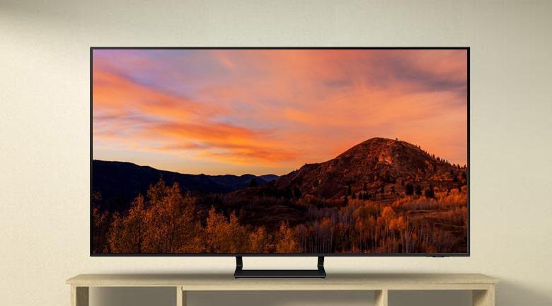 Tivi Samsung UA 55AU9000 với thiết kế kiểu dáng Airslim gọn đẹp, phá cách