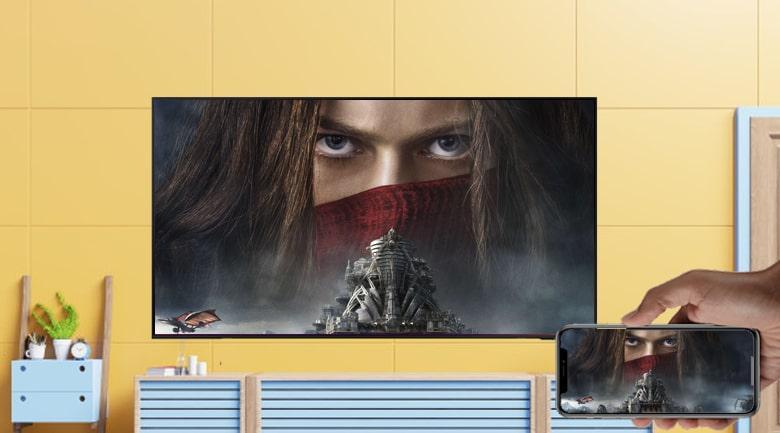 Các tính năng AirPlay 2, Screen Mirroring, Tap View giúp bạn chia sẻ màn hình điện thoại với tivi