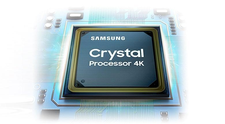 Bộ xử lý Crystal 4K mạnh mẽ nâng cấp mọi chất lượng video lên gần chuẩn 4K