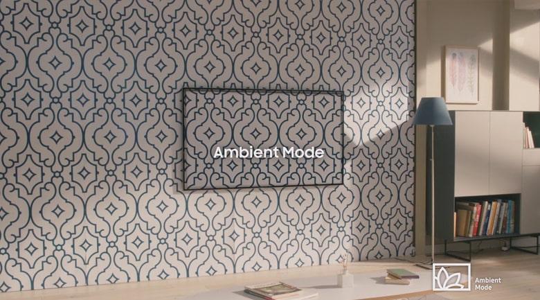Chế độ hình nền Ambient Mode rất thú vị giúp hoà hợp với mọi không gian phòng