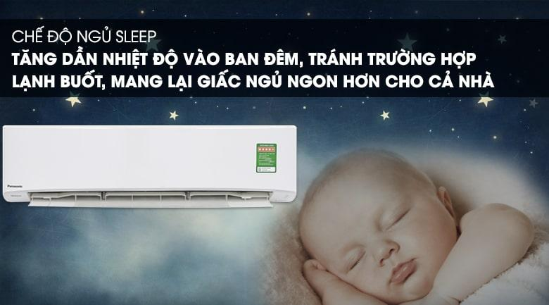 Điều hoà Panasonic PU18UKH-8 trang bị chế độ ngủ đêm tiện lợi cho bạn sâu giấc hơn