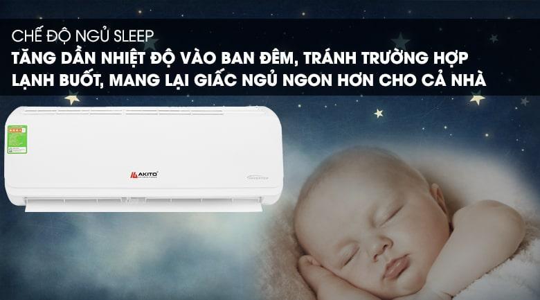 AIC-09ST chế độ ngủ sleep tăng dần nhiệt độ vào ban đêm, tránh trường hợp lạnh buốt