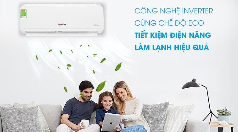công nghệ inverter cùng chế ECO tiết kiệm điện điện năng làm lạnh hiệu quả