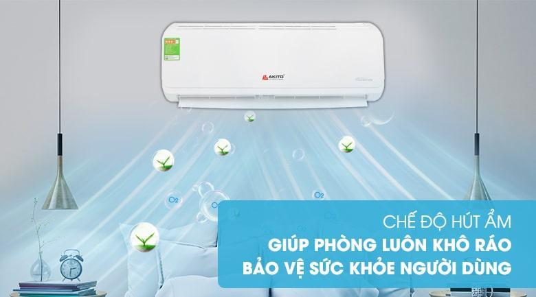 chế độ hút ẩm giúp phòng luôn khô ráo bảo vệ sức khỏe người tiêu dùng