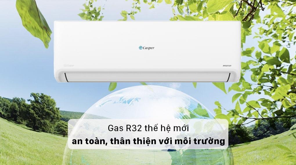 Điều hoà Casper GC-12IS32 sử dụng Gas R32 thế hệ mới thân thiện với môi trường