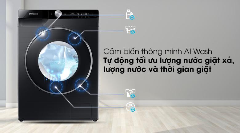 Máy giặt Samsung WW90TP44DSB/SV trang bị cảm biến AI Wash thông minh tối ưu thời gian giặt và lượng nước