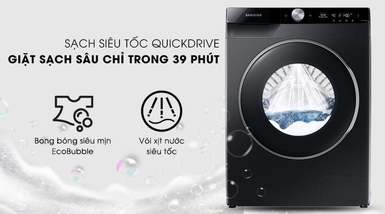 WW90TP44DSB/SV giặt siêu nhanh chỉ trong 39 phút đã với công nghệQuickDrive