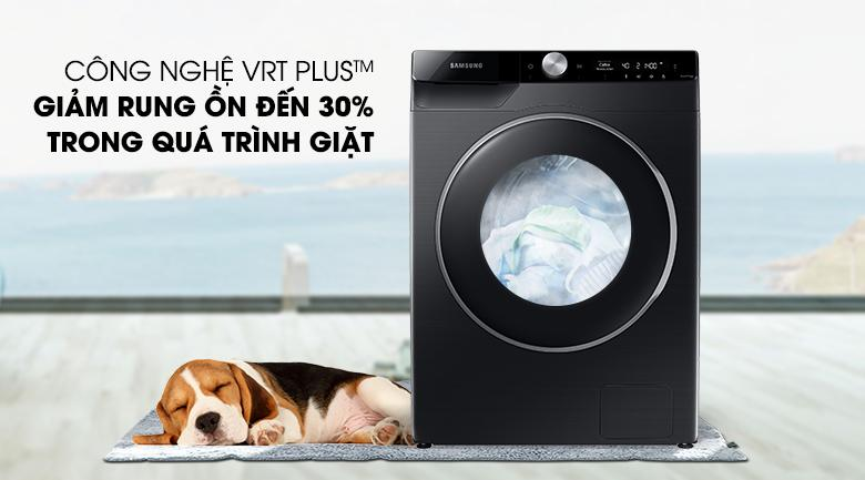 Máy giặt Samsung WW90TP44DSB/SV giảm 30% tiếng ồn trong quá trình hoạt động nhờ VRT Plus ™