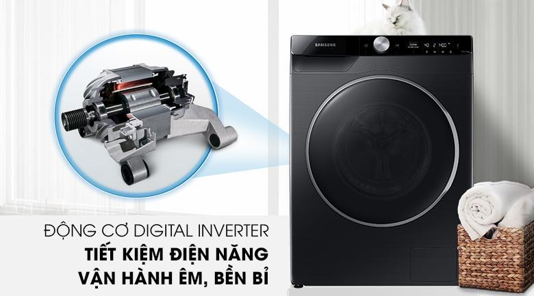 Máy giặt Samsung WW90TP44DSB/SV trang bị động cơ Digital Inverter tiết kiệm điện hiệu quả, tăng độ bền sử dụng