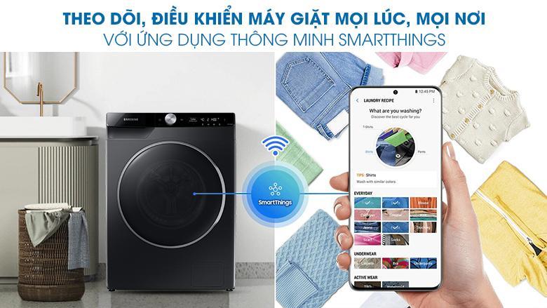 Ứng dụng SmartThings giúp bạn theo dõi, điều khiển máy giặt mọi lúc, mọi nơi với